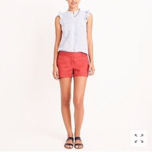 "J. Crew 3"" Broken-In Chino Shorts, Red, Size 00"